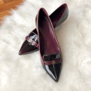 Tory Burch burgundy kitten heels